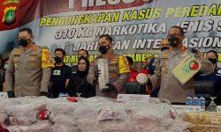 Polisi Ungkap Penyelundupan Sabu 310 Kilogram Dalam Botol Tupperware
