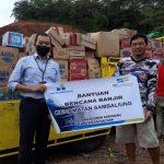 Bankaltimtara Bantu Korban Banjir di Kabupaten Berau