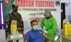 Giliran Purnawirawan Hingga Warakawuri di Teritorial Kodim 0906/Tgr Divaksin Covid-19