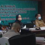 Bupati dan Forkopimda Nunukan Halal Bihalal Bersama Masyarakat Secara Virtual