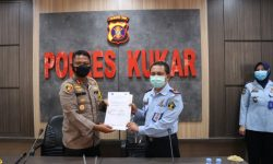 Polres Kukar – Lapas Tenggarong Tanda Tangani MoU Tentang Pengamanan