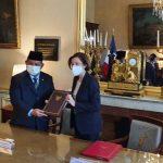 Prabowo Subianto – Florence Parly Tandatangani Persetujuan Kerja Sama Pertahanan Indonesia dan Prancis