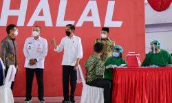 Presiden Jokowi Targetkan Satu Juta Vaksinasi per Hari pada Juli Mendatang