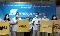 Maskapai SUPER AIR JET Resmi Kantongi Izin Kemenhub