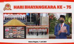 HUT Bhayangkara ke-75, Presiden Jokowi Apresiasi Polri Tangani Pandemi COVID-19