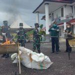 Kejari Nunukan Musnahkan Barang Bukti 239 Perkara Kejahatan