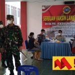Danlantamal XIII Tarakan Tinjau Pelaksanaan Vaksinasi Pekerja Migran di Nunukan