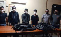 Polisi Tangkap Maling Kabel Tembaga Milik Pertamina di Muara Badak