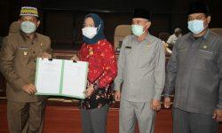 DPRD Nunukan Berikan Persetujuan Dua Raperda Menjadi Perda