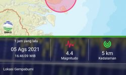 Tarakan Diguncang Gempa Magnitudo 4,4