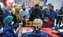 Serbuan Vaksinasi TNI AU Menambah Angka Capaian Vaksin Berau