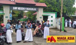 156 Pelajar SMPN I Nunukan Mulai PTM Terbatas