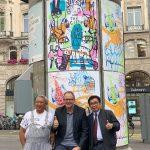 Pelukis Indonesia Gelar Pameran dan Melukis Langsung di Tengah Kota Basel