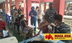 Lanal Nunukan Vaksinasi 130 Pekerja Migran Sebelum Pulang Kampung