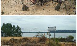 Rusak Mangrove, Penimbunan Pantai di Jalan Lingkar Dihentikan Satpol PP Nunukan