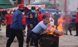 Serius Tangani Kebakaran, Rutan Samarinda Simulasi Proses Evakuasi Hingga Pemadaman