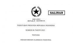 Presiden Jokowi Terbitkan Perpres 86/2021 tentang Desain Besar Olahraga Nasional