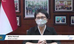 Menlu Retno Pastikan Pemerintah Terus Kerja Keras Penuhi Kebutuhan Vaksin