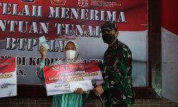 Kodim Nunukan Salurkan 750 Bantuan Tunai Pedagang Kaki Lima dan Warung