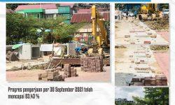 Progres Peningkatan Drainase Taman Samarendah Selesai Bulan Depan