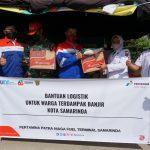 Pertamina Peduli Distribusikan Bantuan Logistik ke Warga Terdampak Banjir Samarinda