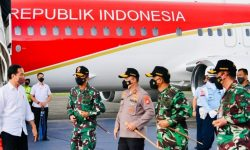 Dari Sorong, Presiden Kembali ke Jakarta